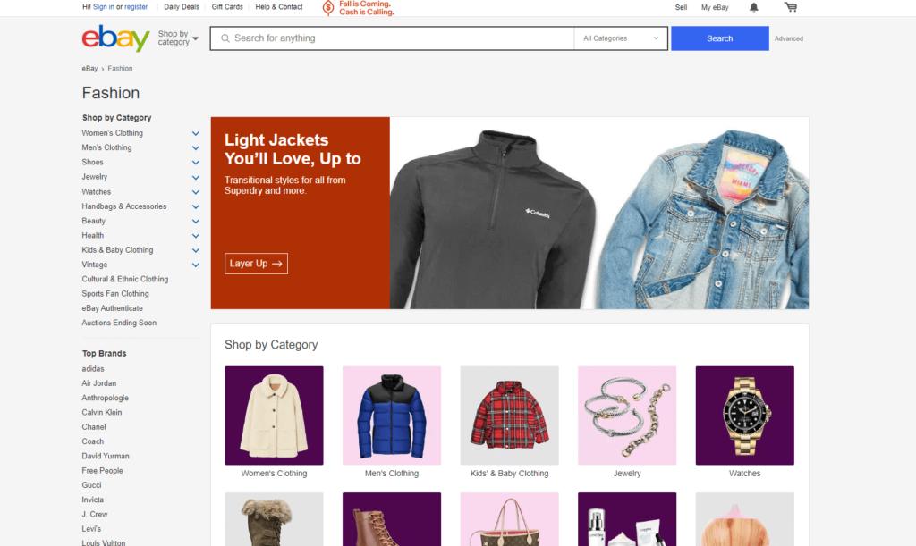 ebay online thrift store
