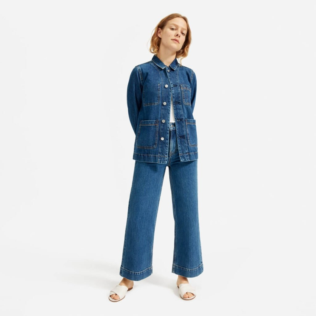 everlane womens sustainable denim brands