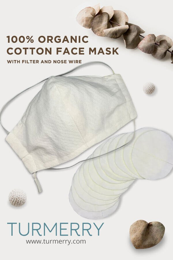 Turmerry organic cotton sustainable face mask