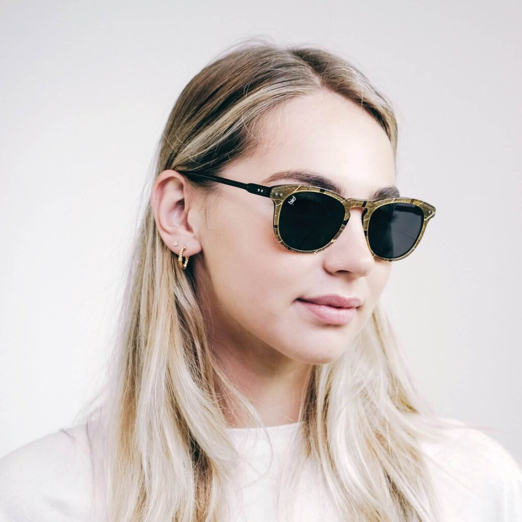 Bird Pluma green Sunglasses