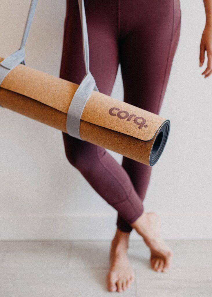 Corq eco-friendly cork yoga mat