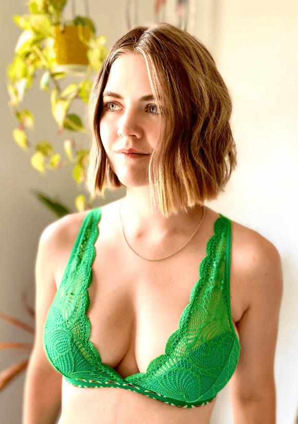 Naja Sustainable lingerie green bra