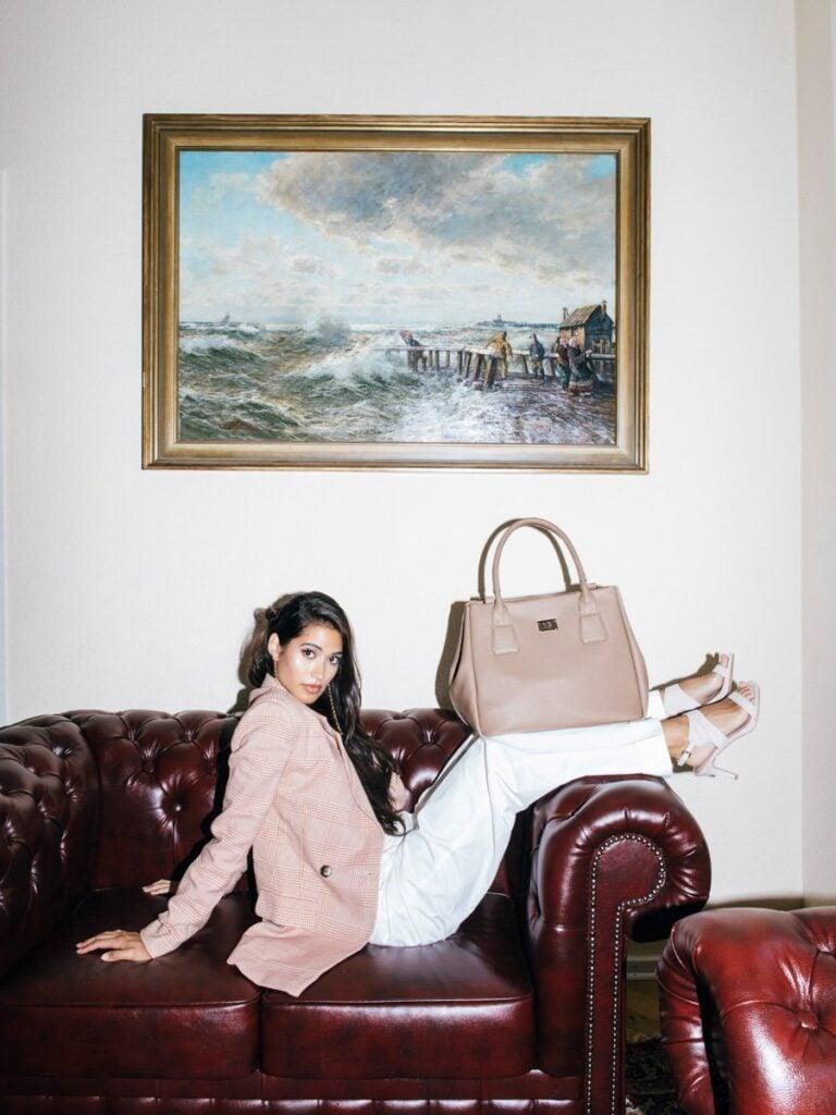 Melina Bucher Vegan Handbag displayed on model