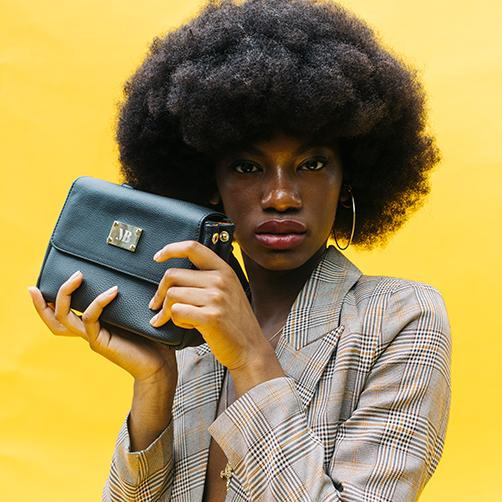 Melina Bucher Crossbody bag featured with model
