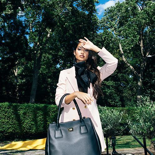 Melina Bucher handbag pictured on model