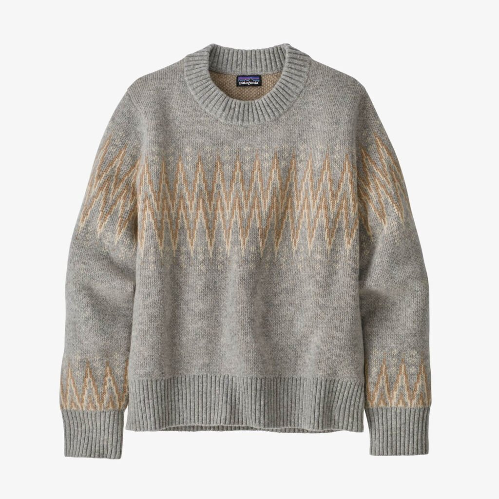 Patagonia sustainable ethical sweater from recycled wool