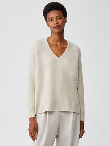 Eileen Fisher luxury knitwear sustainable sweater