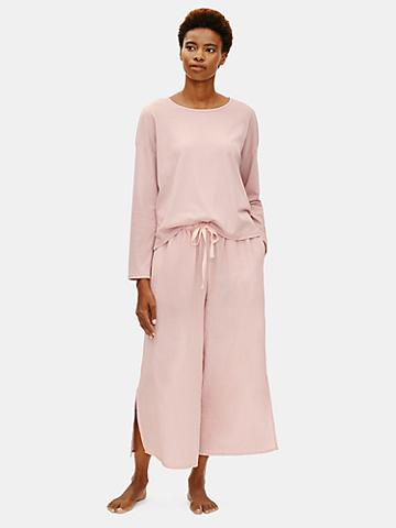 Eileen Fisher Sustainable and organic pajamas set, pink organic nightwear