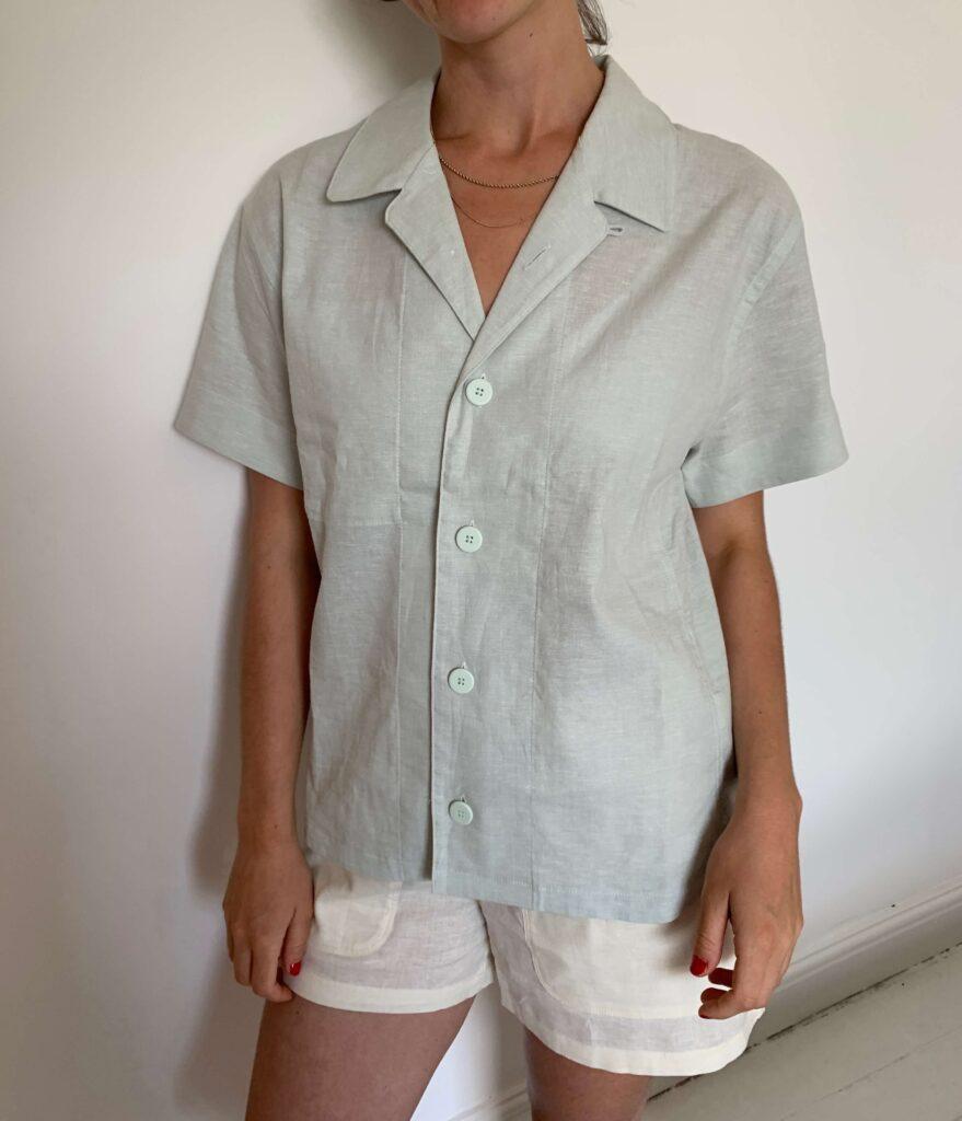 Allbirds camp shirt and short set