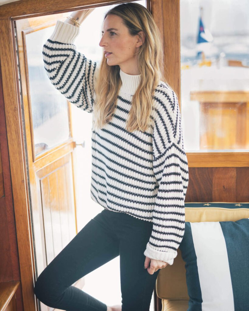 Able warm sweater made from organic cotton