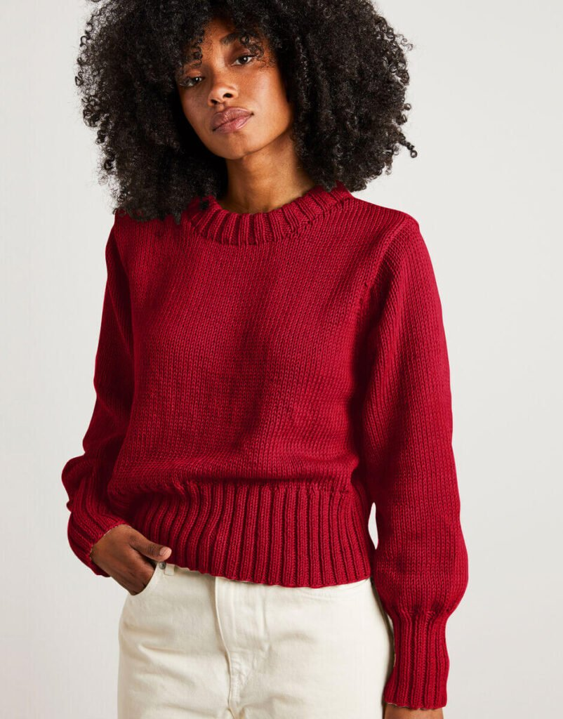 Wool and the gang hand knit sweater
