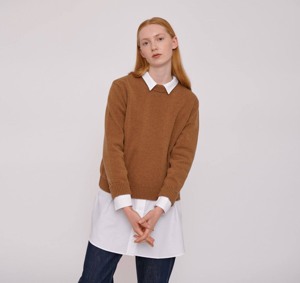 Organic basics warm sweater made from sustainable materials