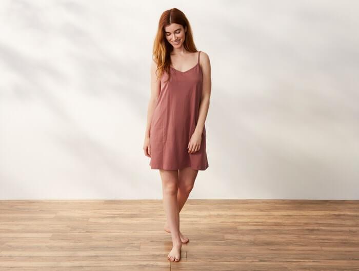 Coyuchi organic cotton nightwear, nightdress in breathable fabric
