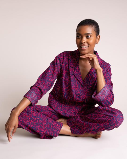 Yawn Organic cotton pajamas, sleepwear set in hand-drawn design