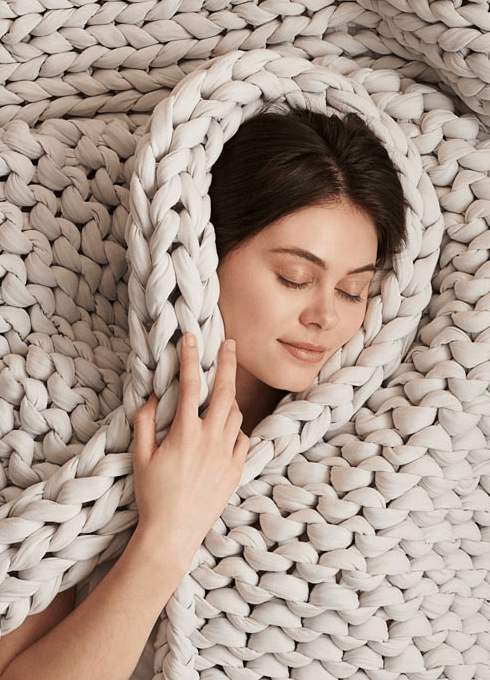 Bearaby organic cotton weighted blanket