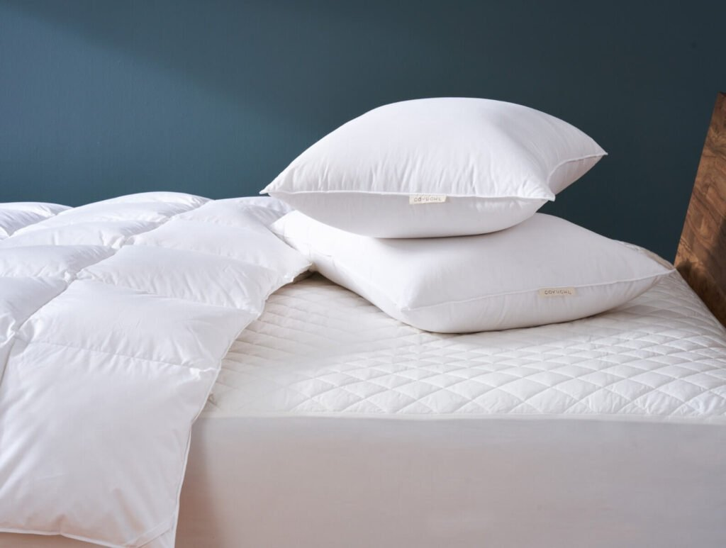 Coyuchi organic comforter filled with down