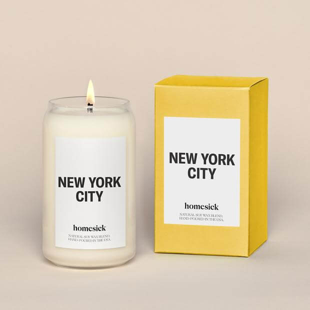 Homesick non toxic candles fragrances from every city