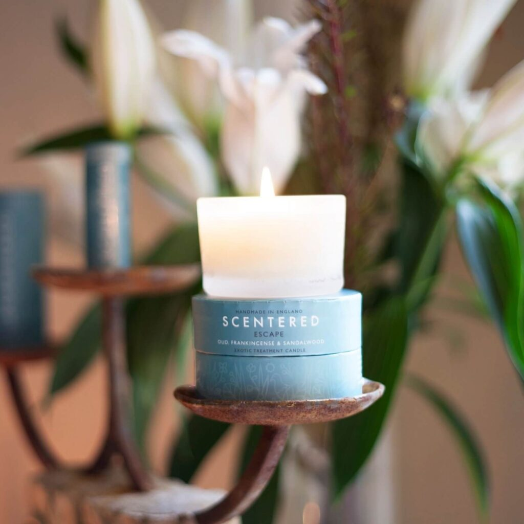 Scentered non toxic candle calming fragrance
