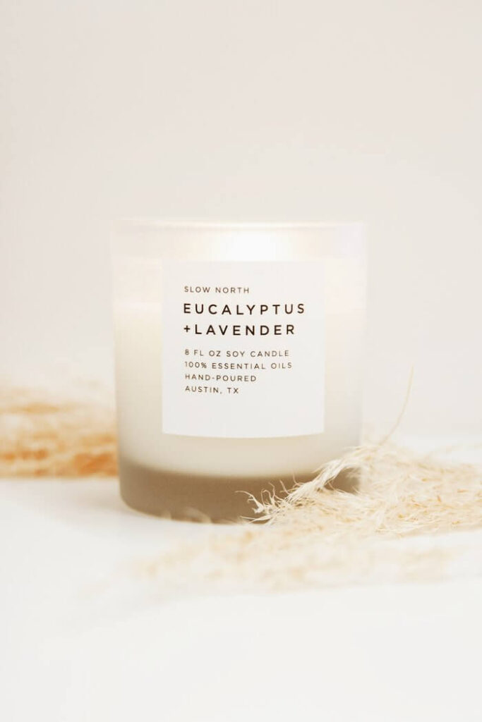 Slow North sustainable candle