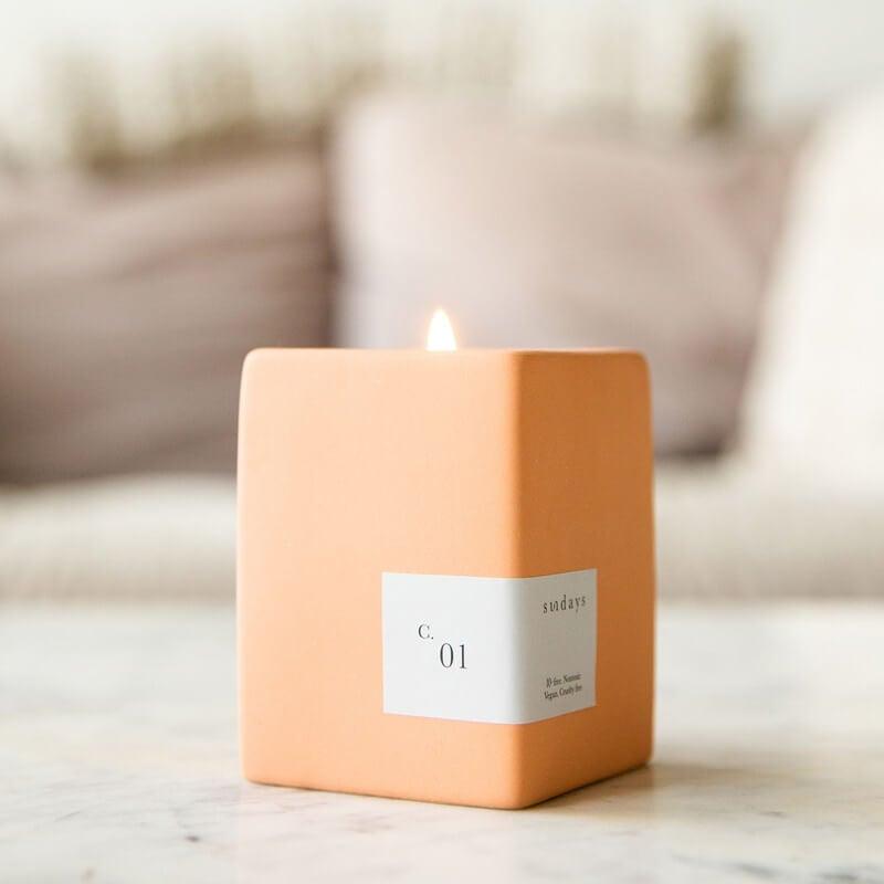 Sundays non toxic soy wax candle