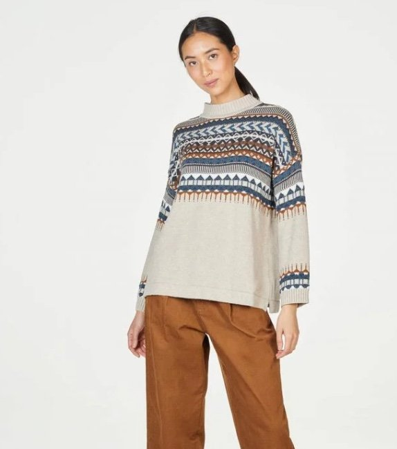 Thought organic cotton sweater sustainable and ethical production