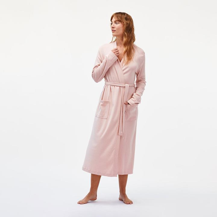 Under The Canopy organic cotton robe in pink