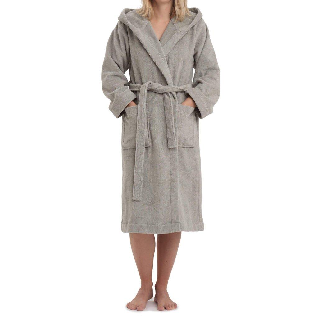 Urbanara organic cotton robe with hood