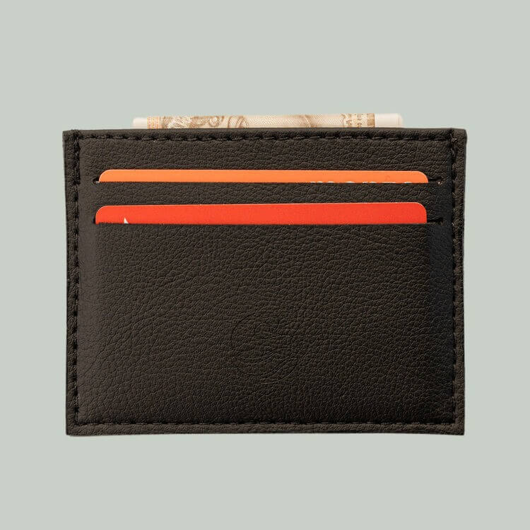 Wave cactus leather card holder