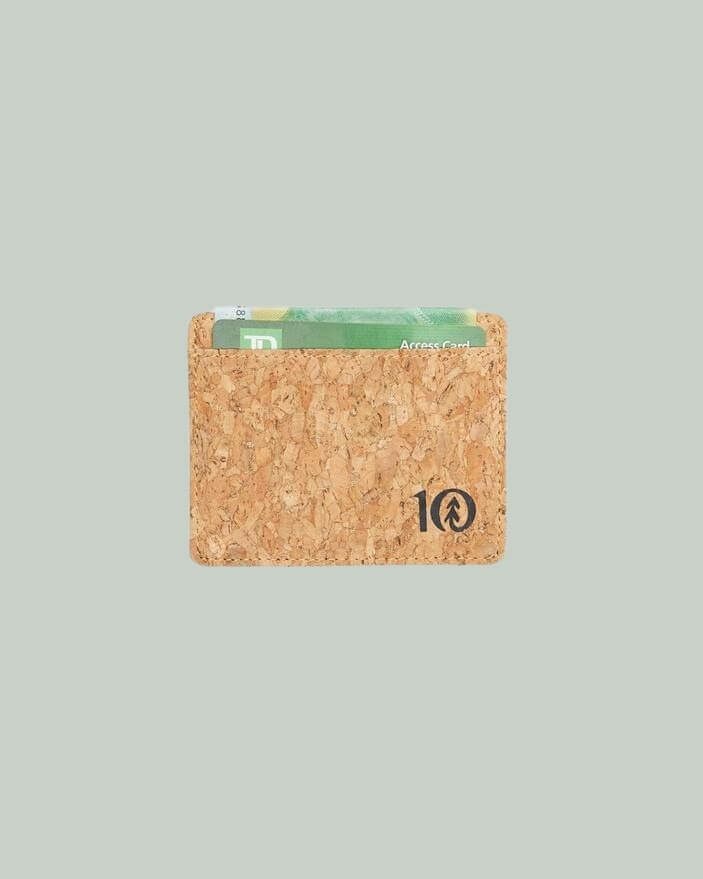 tentree sustainable cork card holder