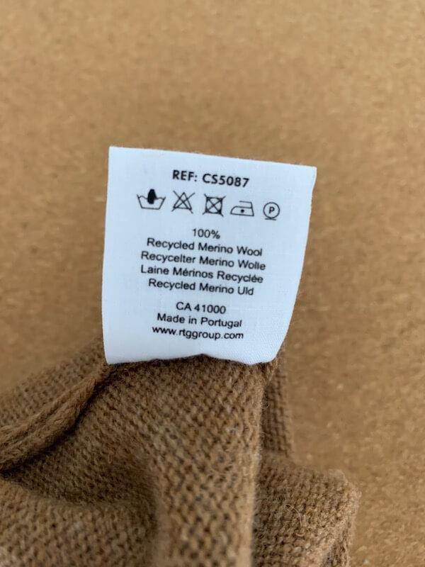 Colorful Standard washing label