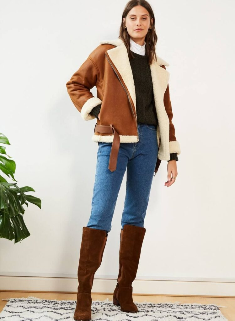 Baukjen sustainable shearling coat