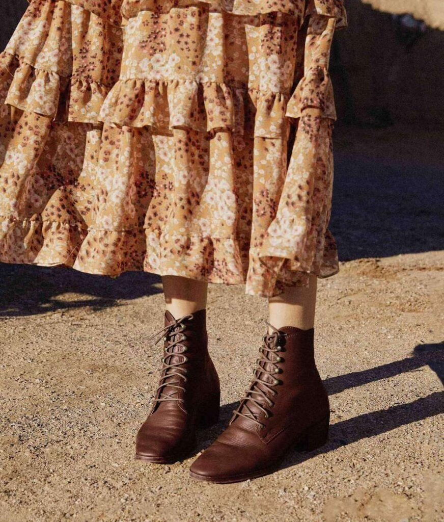 Christy Dawn responsible leather boots created from deadstock materials