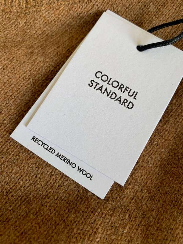 Colorful standard recycled wool sweater review
