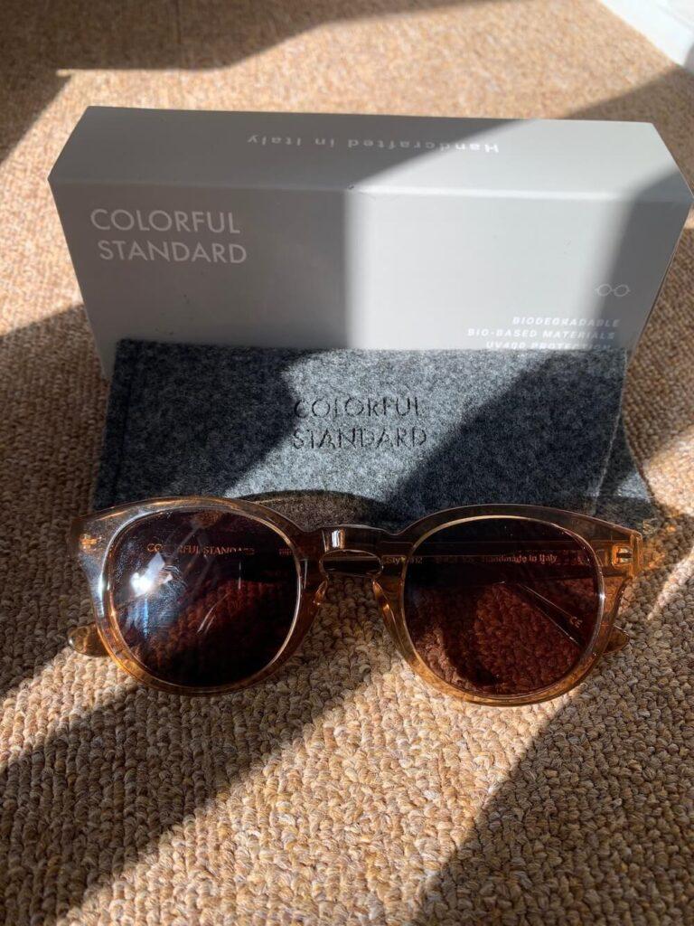Colorful Standard biodegradable sunglasses