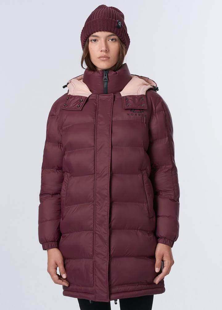 NORDEN sustainable puffer jacket womens