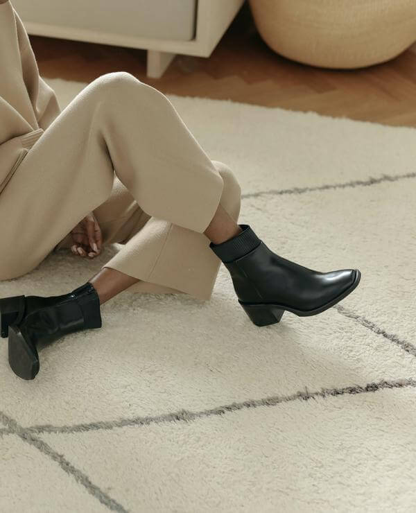 Made Trade black sustainable bootsfrom Cicolo