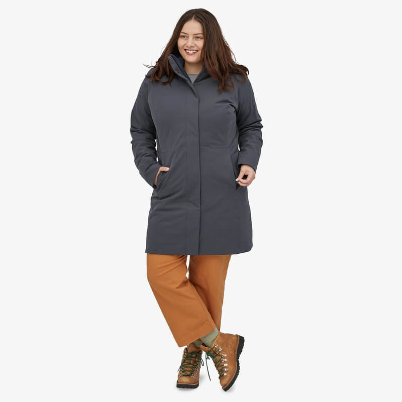 Patagonia ethical jacket made from recycled materials, 3 in 1 sustainable coat